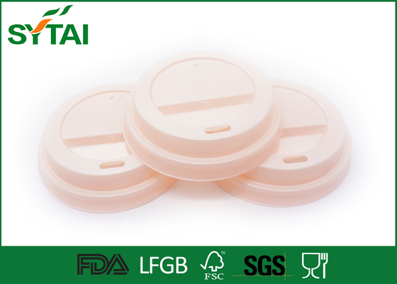 China Eco Friendly Paper Cup Lids , Plastic Coffee Cup Lid With Dome / Flat Shapes supplier