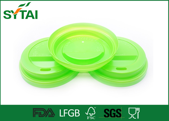 China Customized Plastic Coffee Lids For Tea / Beveage Paper Cup , Party Cup Lids FSC LFGB Approval supplier