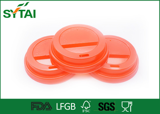 China 8 Oz Red Plastic Paper Cup Lids for Coffee or Tea Paper Cups supplier