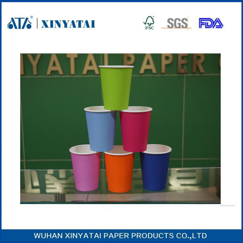 f80af5f91c9 China Multi Color Custom Paper Coffee Cups , Disposable Paper Cup for Hot  Drinks or Cold