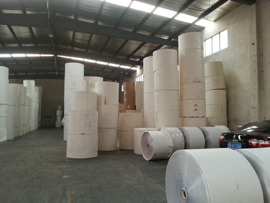 China Customized Printing White PE Coated Printed Paper Roll for Making Paper Cups factory