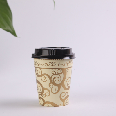 China 12oz LOGO Printed Single Wall Paper Cups for Hot Drinks , Disposable Coffee Cups with Lids factory