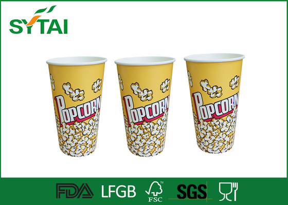 Personalized Recyclable Food Packaging Custom Popcorn Bucket , Small Popcorn Boxes