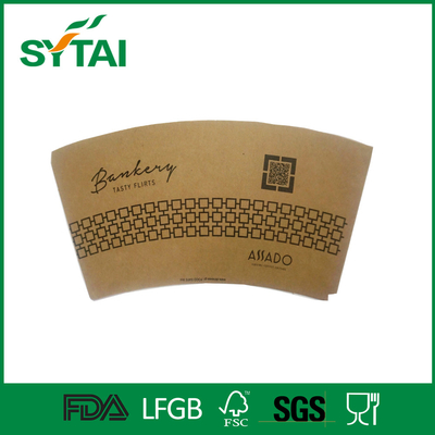 FDA SGS Customized Paper Cup Fan / Sheet With Logo Printed , Orange Color