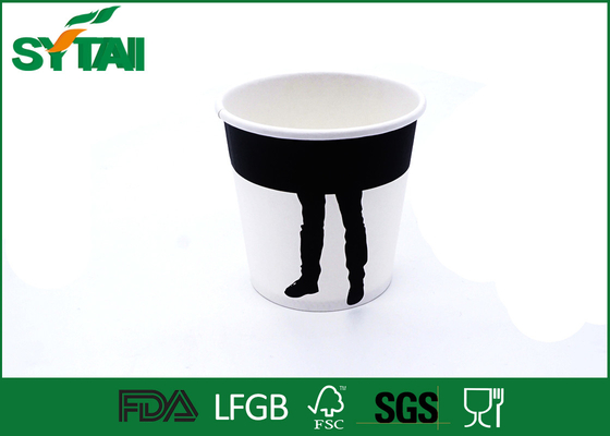 Environmental Friendly 7oz Cold Drink Paper Cups With Flexo Printing , Free Sample