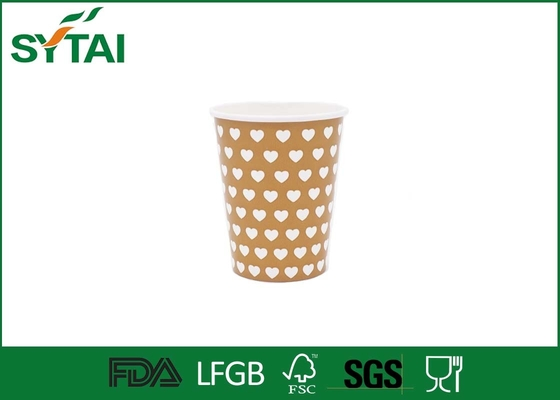 China Flexo Printing Food Grade Hot Drink Paper Cups For Beverage , Beautiful Design factory